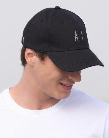 Black Dome Flat Cotton Baseball Cap