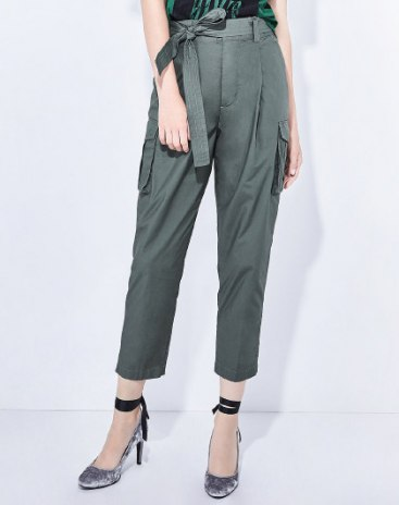 Green Bandage Cropped Women's Pants