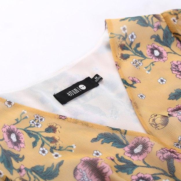 V Neck Sleeve A Line Standard Women's Dress