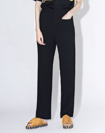 Black High Waist Long Women's Pants