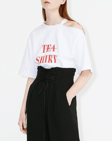 White Round Neck Half Sleeve Loose Women's T-Shirt