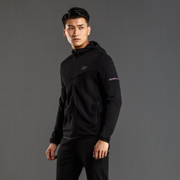 Stand Collar Long Sleeve Fitted Men's Outerwear