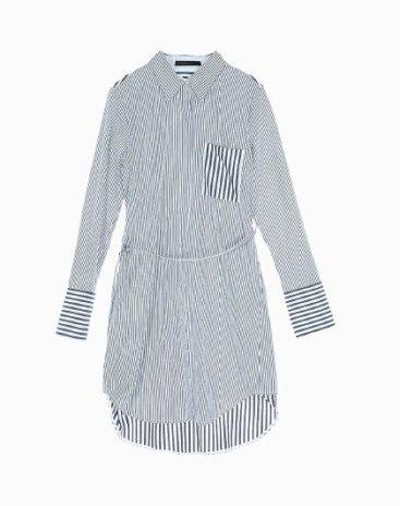 Stripes Lapel Single Breasted Long Sleeve Women's Shirt
