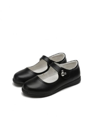 Black Girls' Leather Shoes