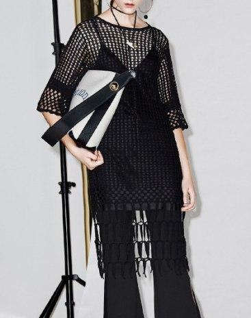 Black Round Neck Half Sleeve Women's Dress