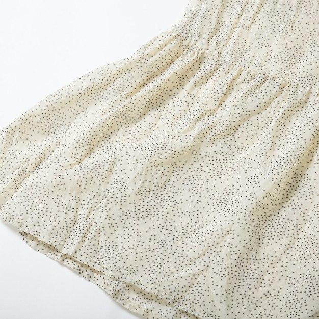 Beige 3/4 Length Women's Skirt