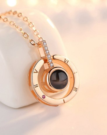 Rose Gold Sun And Moon Pendant
