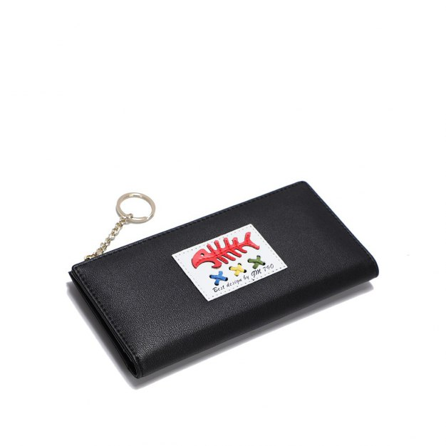 Black PU Purse(Long) Big Women's Wallet