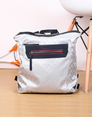Silver Big Women's Backpack