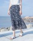 Apricot 3/4 Length Women's Skirt
