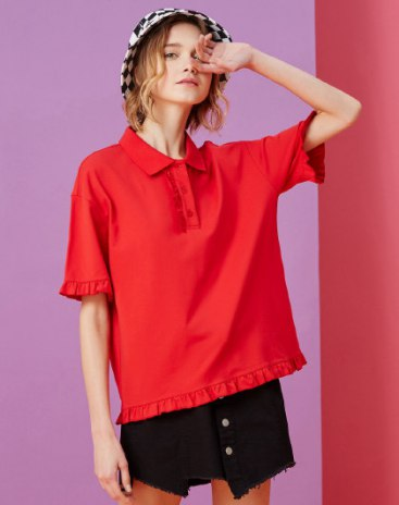 Red Women's Polo