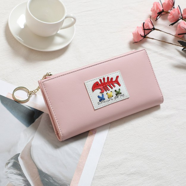 Pink PU Purse(Long) Big Women's Wallet