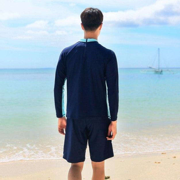 Indigo Half Swim Trunks Men's Swimwear