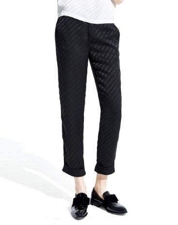 Black Cropped Women's Pants