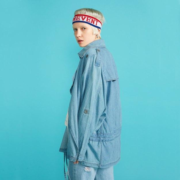 Blue Women's Windbreaker