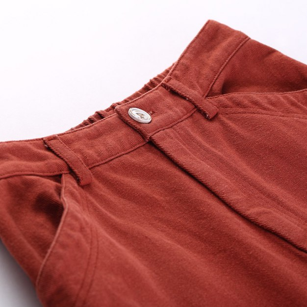 Brown Cropped Women's Pants