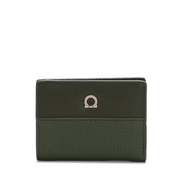 Green Plain PU Purse(Short) Small Women's Wallet