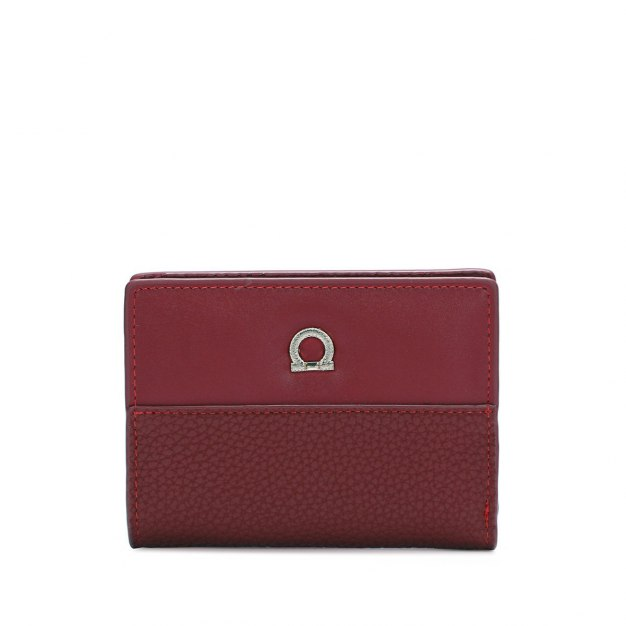 Red Plain PU Purse(Short) Small Women's Wallet