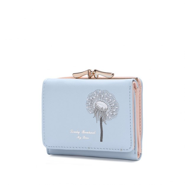 Blue PU Purse(Short) Small Women's Wallet
