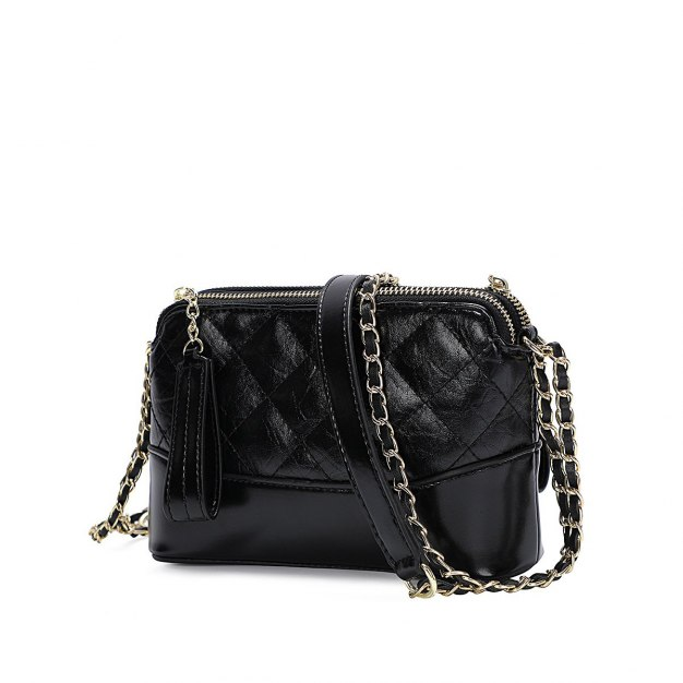 Black PU Purse Small Women's Crossbody Bag