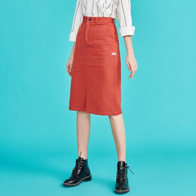 Brown High Waist Women's Skirt