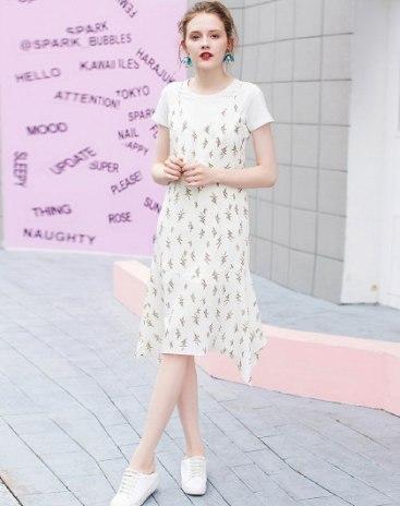 Apricot Sleeveless Standard Women's Dress