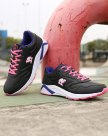 Black Shock-Absorbing Running Women's Sneakers