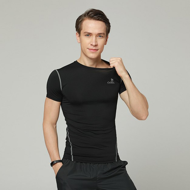 Black Short Sleeve Men's T-Shirt