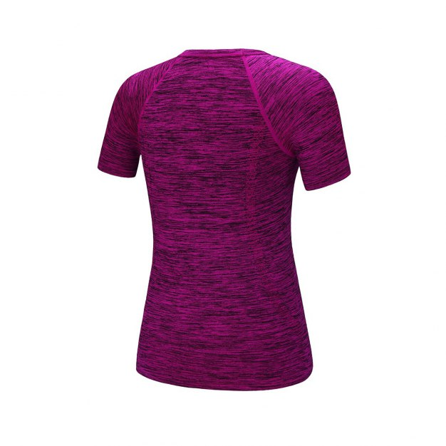 Red Round Neck Short Sleeve Wear-Resistant Women's T-Shirt