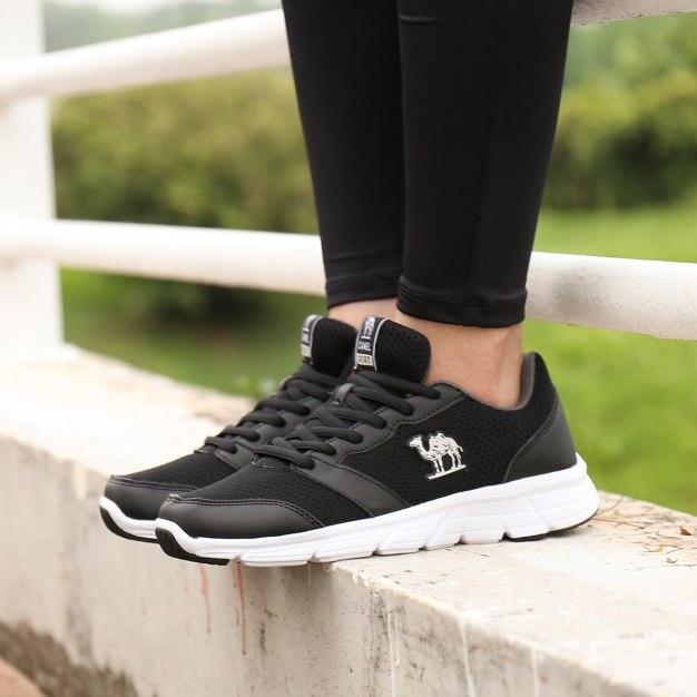 Black Anti Skidding Running Women's Sneakers