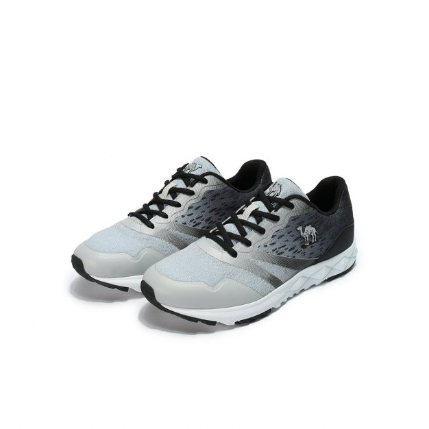 Gray Shock-Absorbing Sports Men's Sneakers