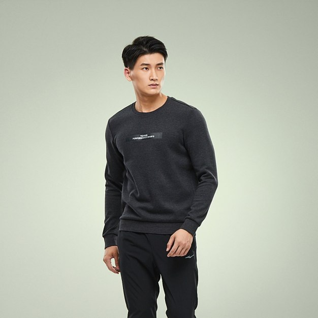 Round Neck Elastic Long Sleeve Fitted Men's Outerwear