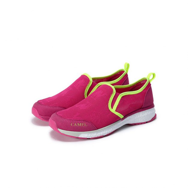 Red Shock-Absorbing Outdoor Women's Hiking Shoes