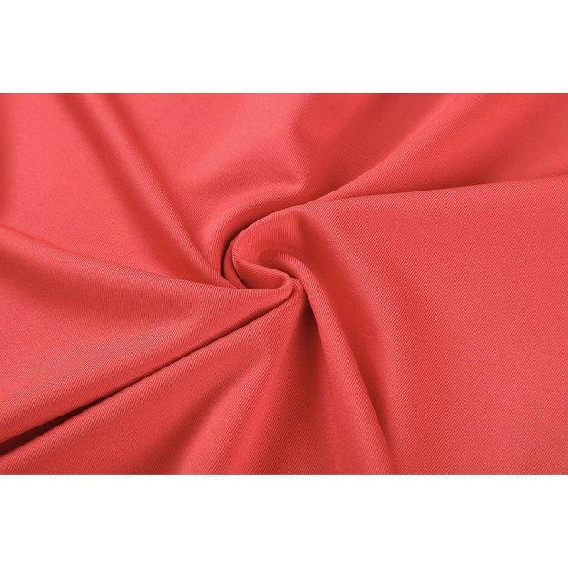Red Lapel Short Sleeve Women's T-Shirt