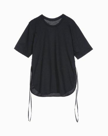 Black Plain Round Neck Short Sleeve Loose Women's T-Shirt