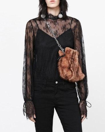 Black Plain Stand Collar Sleeveless Women's Shirt