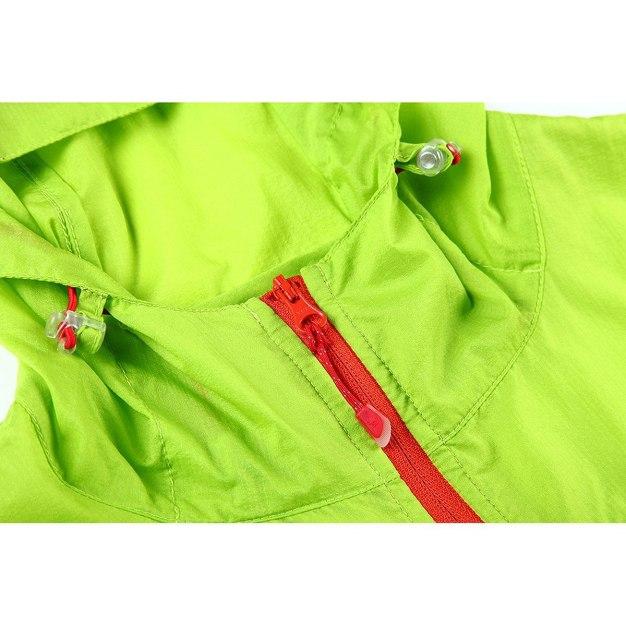 Green Lapel Quick Drying Women's Windbreaker