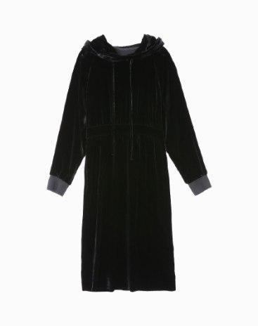 Black Long Sleeve 3/4 Length Standard Women's Dress