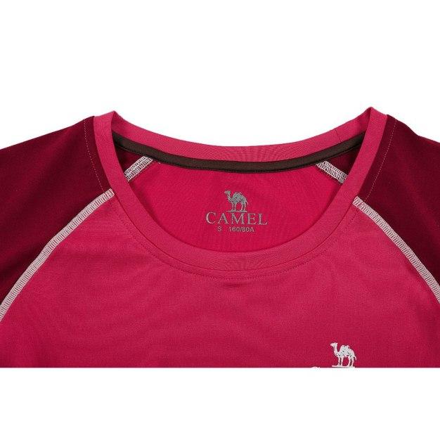 Red Round Neck Short Sleeve Women's T-Shirt