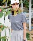 Blue V Neck Short Sleeve Standard Women's T-Shirt