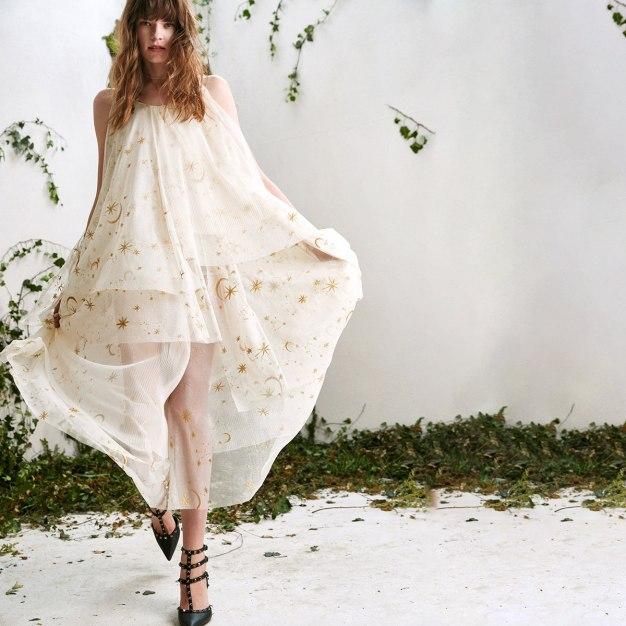 Beige Round Neck Sleeveless A Line Loose Women's Dress