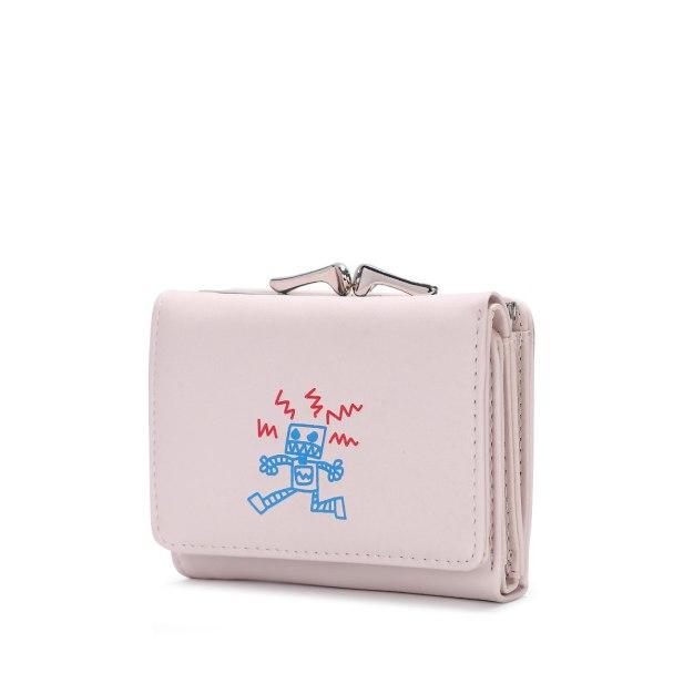 Pink PU Purse(Short) Small Women's Wallet