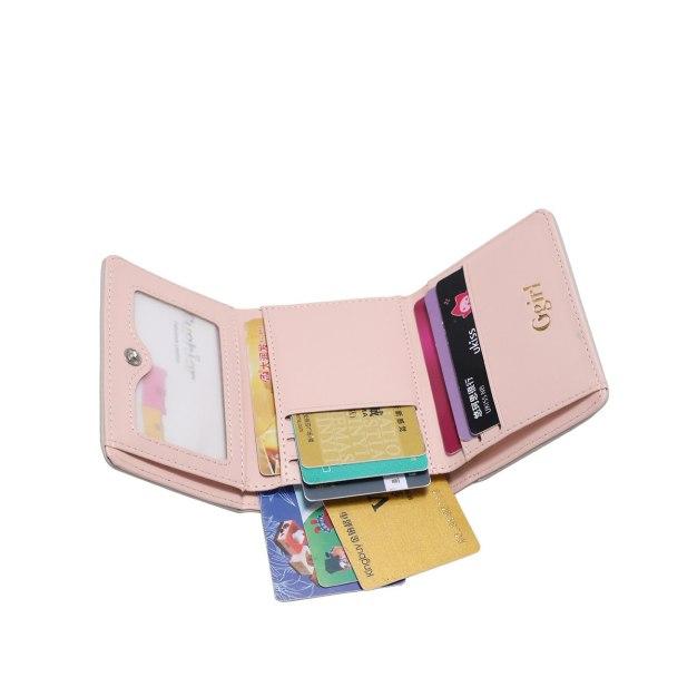 Purple PU Purse(Short) Small Women's Wallet