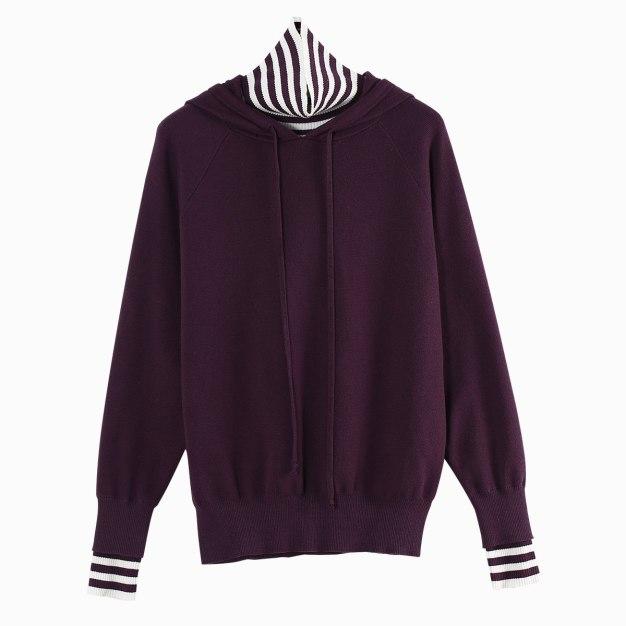 Purple Long Sleeve Standard Women's Sweater