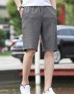 Black Drawstring Inelastic CroppedPants Men's Pants