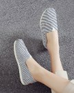 Blue Round Head Flat Women's Pumps
