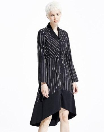 White Long Sleeve 3/4 Length Loose Women's Dress
