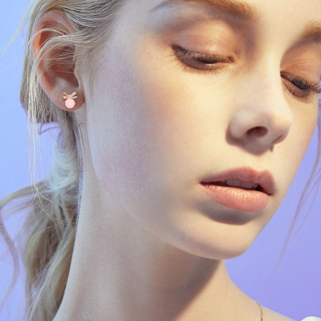 Pink Insect Earrings