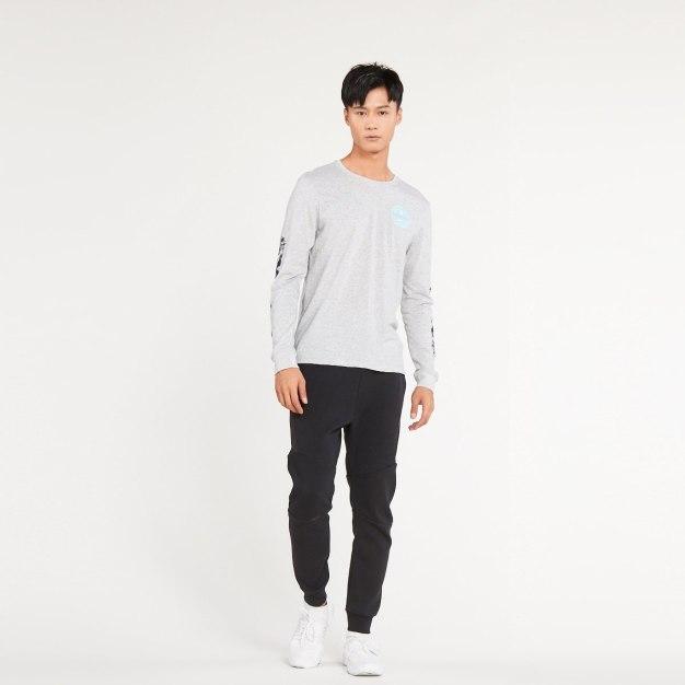 Long Sleeve Wear-Resistant Standard Round Neck Men's T-Shirt