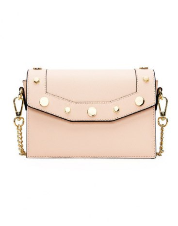 Beige Plain Small Women's Crossbody Bag